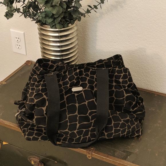 Leopard print Baggalini travel bag
